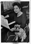 Revella Hughes and dog