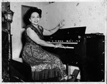 Revella Hughes playing piano