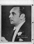 Picture of Emil Coleman with signature on back of sheet music