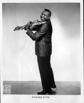 Photo of Richard Otto with violin by James Kriegsmann
