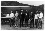 Men and Biplane at Chesapeake, Ohio Airport
