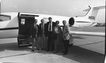 Dr. Charles Hoffman with His Wife and Friends at the Tri-State Airport