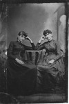 Tintype of two unidentified young women.