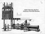 Artist's drawing of first Anderson-Newcomb elevator