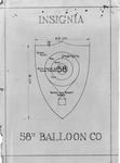 Blueprint design of insignia of the U.S. Army 58th Balloon Company, WWI