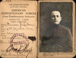 WWI American Expeditionary Forces identity card