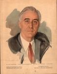 Print of the unfinished portrait of Franklin delano Roosevelt