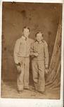 Two unidentified boys in Confederate uniforms