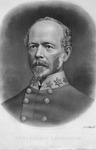 Confederate General Joseph E. Johnson portrait engraving, autographed, 1872