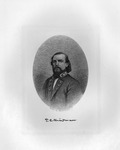 Etching of Confederate Gen. Thomas C. Hindman, ca. 1890