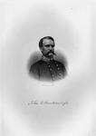Etching of Confederate Gen. John C. Breckinridge, ca. 1890