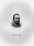 Etching of Confederate Gen. Arnold Elzey, ca. 1890