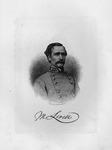 Etching of Confederate Gen. Mansfield Lovell, ca. 1890