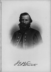 Etching of Confederate Gen. James Ewell Brown Stuart, ca. 1890