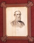 Lithograph print of Gen. Robert E. Lee in uniform, by Currier & Ives General Robert E. Lee
