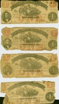 Nine Virginia $1 Treasurery Notes, printed in 1862, printed by Hoyer and Ludwig, Richmond.
