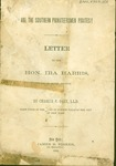 Printed letter from Charles P. Daly, LLd, to Ira Harris, US Senator titled