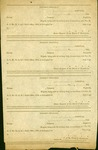 Page of four blank soldier's furlough forms. All dated 1864 and intended for use by Confederate hospitals in Virginia.
