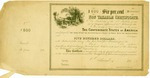 $500 bond issued by Confederate States of America, 6 percent. payable