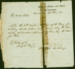 Circular Order from the Office of orders and Detail of the C.S. Navy, dated 1864, giving allowance for mileage for officers.