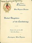 Program of the W.Va. Division, United Daughters of the Confederacy, Oct. 8 thru 10, 1902, Huntington, W.Va.