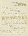 Letter from Confederate Maj. Richard Morton of the CSA Nitre and Mining Bureau to A. T. Imes, Pres of Shelby iron Works, 1863.