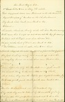 """Handwritten poem entitled: """"Air Root Hog or Die"""", author unknown, written during the Civil War. Patterned after a pre-Civil War poem of the 1850's. Typed transcription included in the folder."""