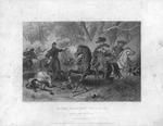 Lithograph of Lewis Cass, ca. 1866. Lithograph of Battle Near Mill Springs, Ky., and Death of Gen. Zollicoffer, 1862
