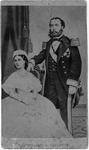 Carte de visite of Emperor Maximilian of Mexico and wife Carlotta