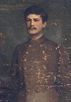 Oil painting on canvas of unidentified Confederate soldier, Oil painting on canvas of unidentified Confederate soldier