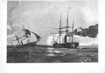 Action Between the Kearsarge and the Alabama, mezzotint, 1869