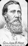 Gen. John B. Hood, CSA, by Jacques Reich from a 1876 photo
