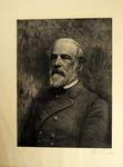 Print on onion-skin paper sketch of Robert E. Lee in uniform, by G. Kruell