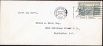 Small stamped envelope, first day cover of Lee-Jackson .04 cent stamp, 1937