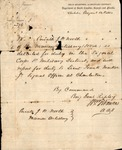 Special Order No. 276, issued by Gen. R.S. Ripley, Military Dist. of Dept of SC, Ga and Fla, Aug. 12, 1863.