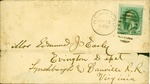Small stamped envelope, .03 cent stamp, postmarked New York, year missing