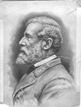 Pen and Ink wash sketch of Robert E. Lee by Jacques Reich, ca. 1880's