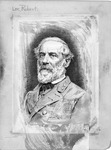 Pen and Ink sketch of Robert E. Lee by Jacques Reich, ca. 1880's