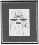 Lithographic print of ship bolting mechanism, early 1800's