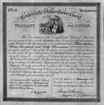 Confederate States warrant for cotton, to sell cotton to British Government, Feb. 1863