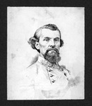 Gen. Nathan Bedford Forrest, india ink by Jacques Reich