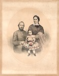 Stonewall Jackson & Family Lithograph of Battle Near Mill Springs, Ky., and Death of Gen. Zollicoffer, 1862