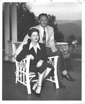Mr. & Mrs. L. O. Reese at the Greenbrier Hotel, White Sulphur Springs, W.Va., 1950 by Bill Wasile