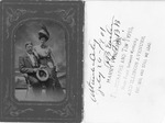 Tintype of F. B. Enslow at Atlantic City, 1901