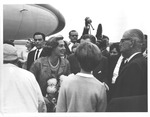 W.Va. Gov. Cecil Underwood (on left) at Huntington airport, 1963 by J. Foster