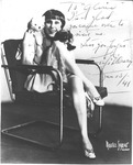 Autographed photo of actress Fifi D'Orsay, 1941