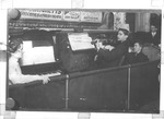 Orchestra at Hipp Theater, Huntington, 1914, Kate Williams on left