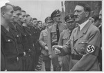 Adolf Hitler reviewing factory troops, Reichs Party Day, 1935