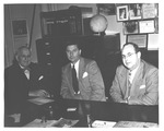Dave Gideon (left) & 2 unidentified men, 1944