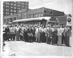 Huntington Publishing tour, Col. Long in front, center, 1950